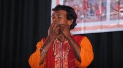 Sanatan Hazra - Leaf flute player